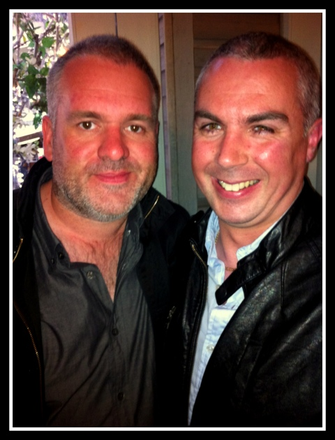 shane and Chris Moyles frame