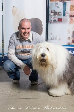 Shane with Dulux dog