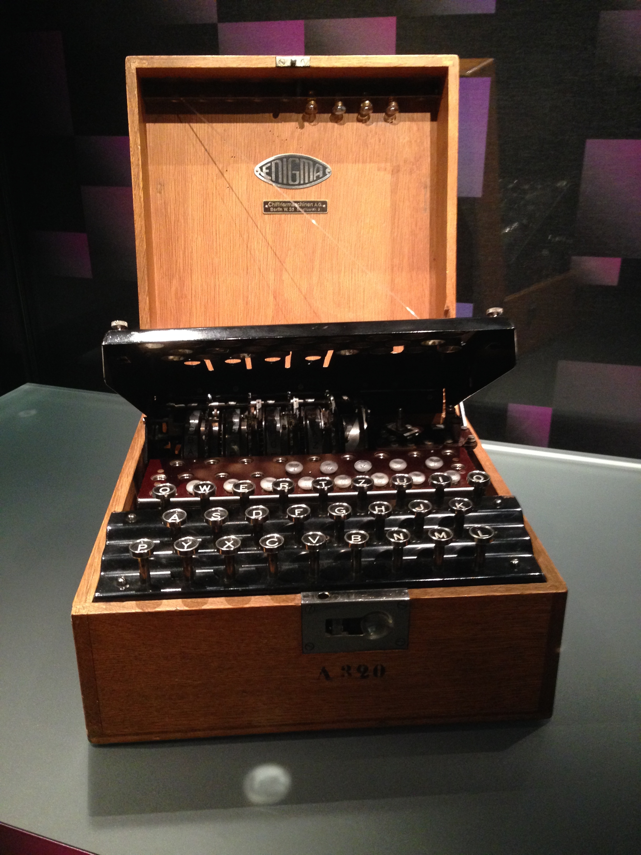 An old enigma machine at Bletchley Park
