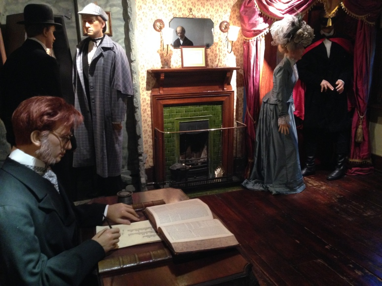 One of the many character and costume displays within the exhibition