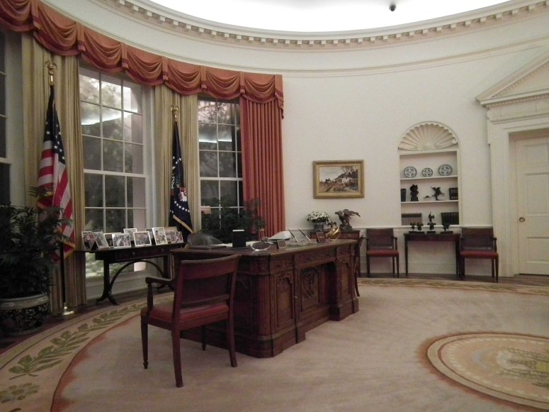 The replica Oval Office at the Reagan Presidential Library in Simi Valley