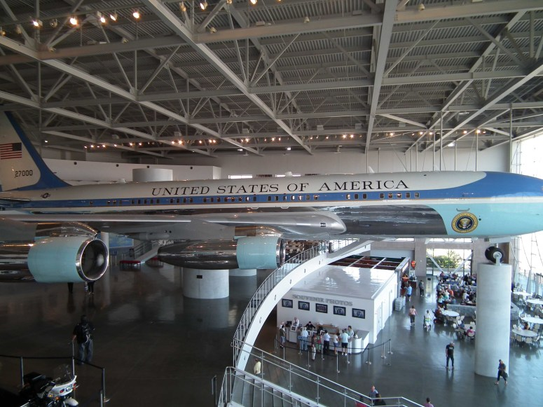 Air Force One (Tail Number 27000) on display at the Reagan Presidential Library in Simi Valley