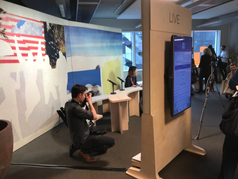 The Facebook Live booth at the summit