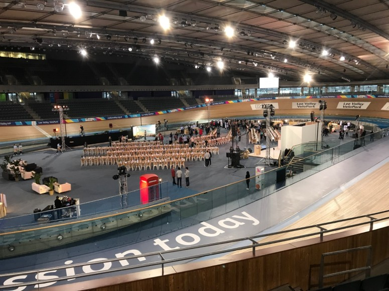 The Velodrome all set out for dinner